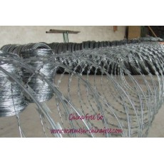 Concertina razor wire factory in Anping, China