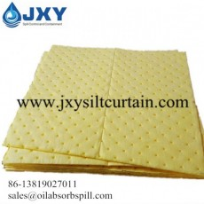 Dimpled and Perforated Chemical Absorbent Pads