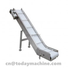 Tilted Belt Conveyor for cake,Biscuits,sugarFactory custom molded flexible Tilted Belt Conveyor pric