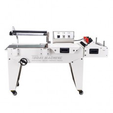semi auto L sealer shrink tunnel PVC POF film sealing shrink packing machine